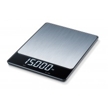 Везна Beurer KS 34 XL kitchen scale; Stainless steel weighing surface; Magic LED; 15 kg / 1 g