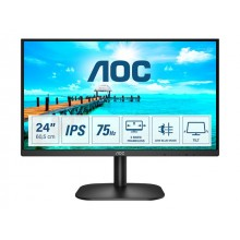 AOC 24B2XD 23.8inch IPS FHD 1920x1080 16:9 250nits 75Hz 1000:1 4ms VGA DVI Black Cable included