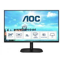 AOC 24B2XH 23.8inch IPS FHD 1920x1080 16:9 250cd/m2 1000:1 7ms HDMI1.4 and VGA inputs Lowblue Mode VESA Compatible
